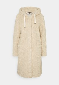Esprit - TEDDY ZIP  - Zimní kabát - cream beige - 0