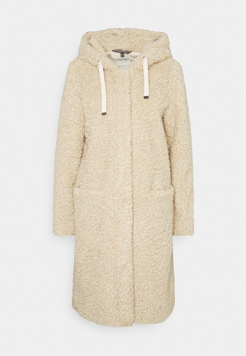 Esprit - TEDDY ZIP  - Zimní kabát - cream beige