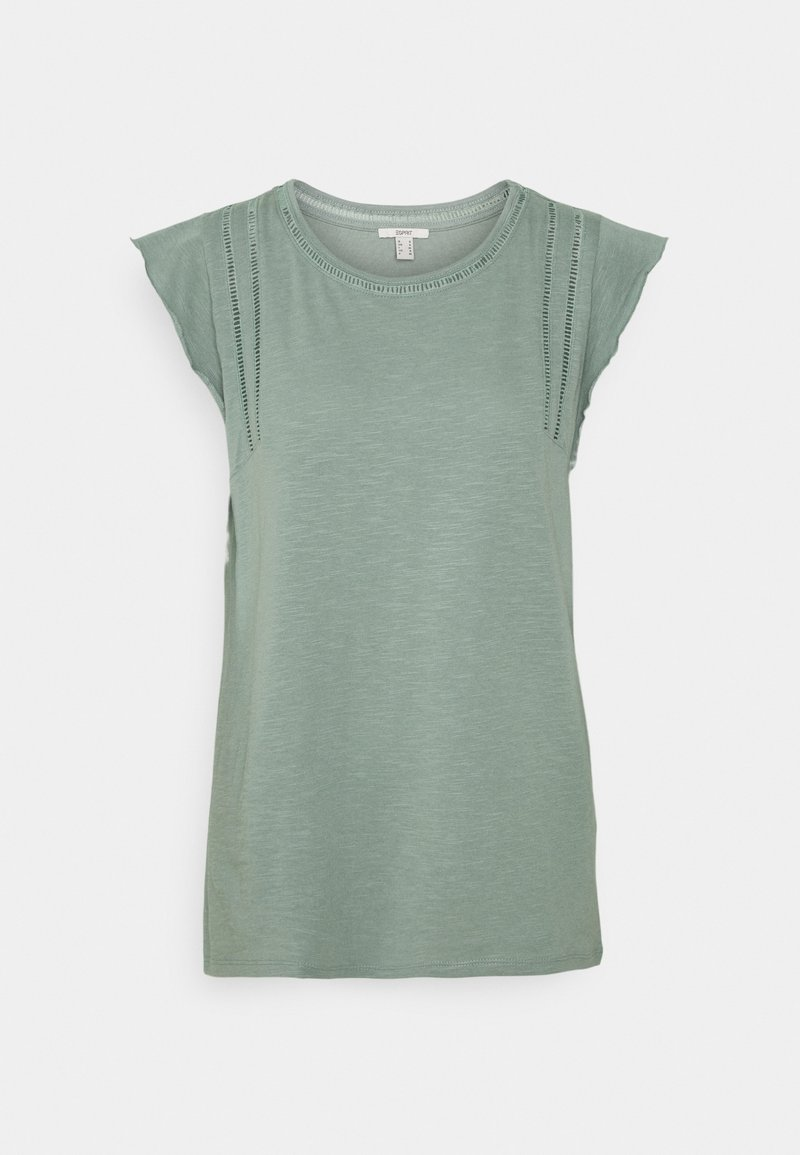 Esprit - TEE LADDER - Print T-shirt - turquoise