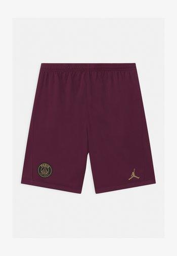 PARIS ST GERMAIN UNISEX - Sports shorts - bordeaux/truly gold