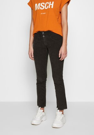 BABY CROPPED CORD STRETCH - Trousers - coffee