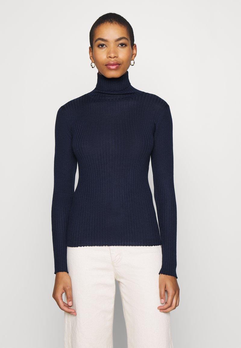 Selected Femme - SLFCOSTA ROLLNECK - Jumper - maritime blue