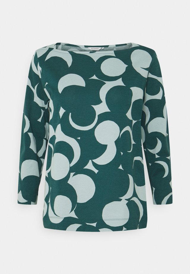 VASTINPISTE MURIKAT - Long sleeved top - muted turquoise/petrol