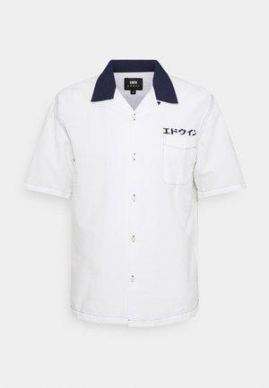 KATAKANA CREW UNISEX - Button-down blouse - white