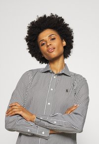 Polo Ralph Lauren - GEORGIA LONG SLEEVE - Button-down blouse - dark loden/white - 3