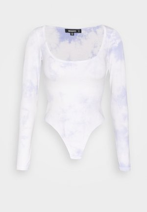 TIE DYE SCOOP NECK BODYSUIT - Topper langermet - multi
