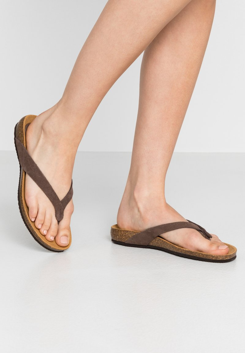 Scholl - TISTOIS - T-bar sandals - marron fonce