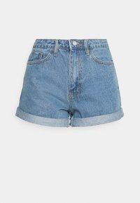 Missguided - HIGHWAISTED TURN UP  - Denim shorts - blue - 4
