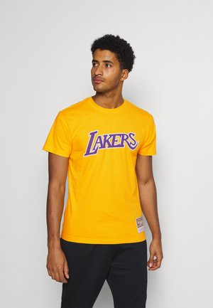 NBA LOS ANGELES LAKERS WORN LOGO WORDMARK TEE - Article de supporter - yellow