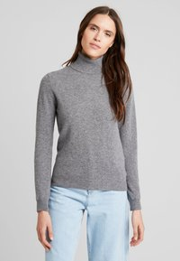 Benetton - TURTLE NECK - Sweter - mid grey - 0