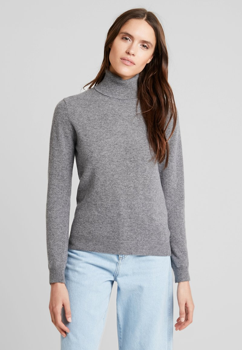 Benetton - TURTLE NECK - Sweter - mid grey