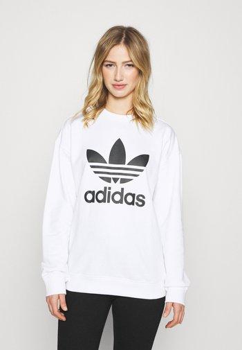 ADICOLOR TREFOIL LONG SLEEVE PULLOVER - Sweatshirt - white