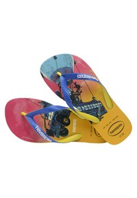 Havaianas - TOP FORTNITE - Pool shoes - yellow, blue - 3