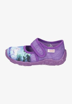 Ankle strap ballet pumps - lila