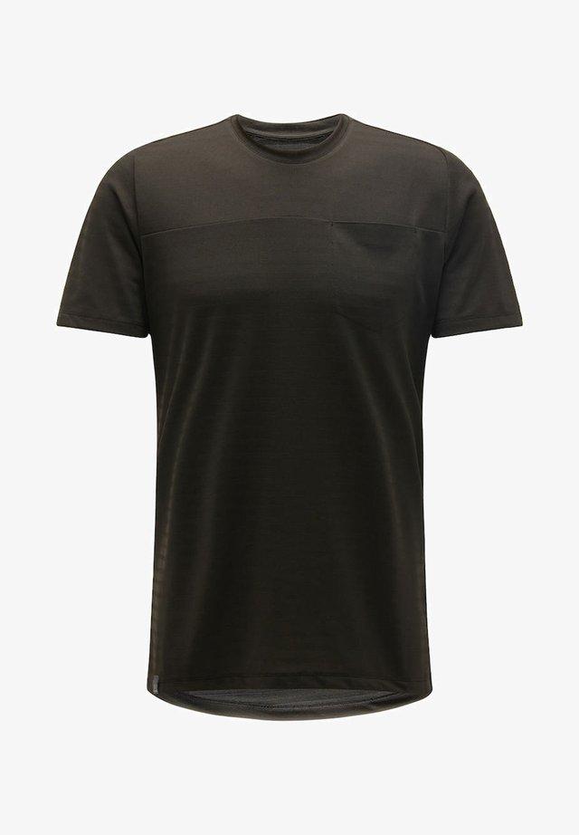 EVODYE TEE - Sports shirt - true black
