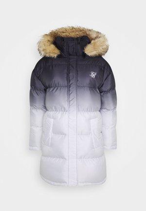 FADE LONGLINE - Winter jacket - black/white