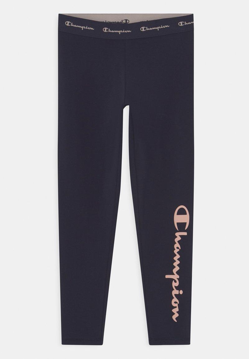 Champion - AMERICAN CLASSICS LOGO UNISEX - Leggings - Trousers - navy/pink