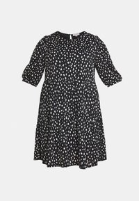 ONLY Carmakoma - CARPELLY PEPLUM DRESS PLUS - Day dress - black - 4