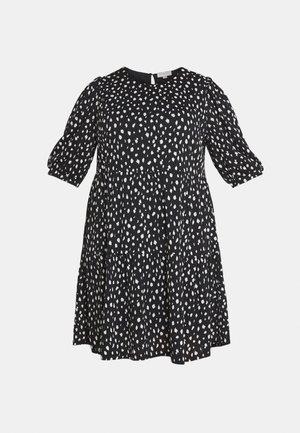 CARPELLY PEPLUM DRESS PLUS - Day dress - black