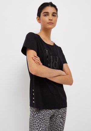 JEWEL BUTTONS - Print T-shirt - black