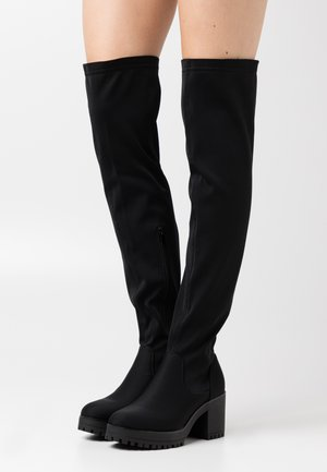 CHUNKY BOOTS - Over-the-knee boots - black