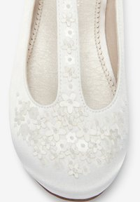 Next - Ankle strap ballet pumps - off-white - 3