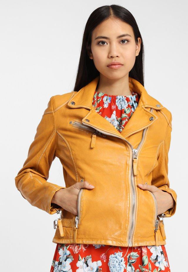 LABAGV - Leather jacket - yellow