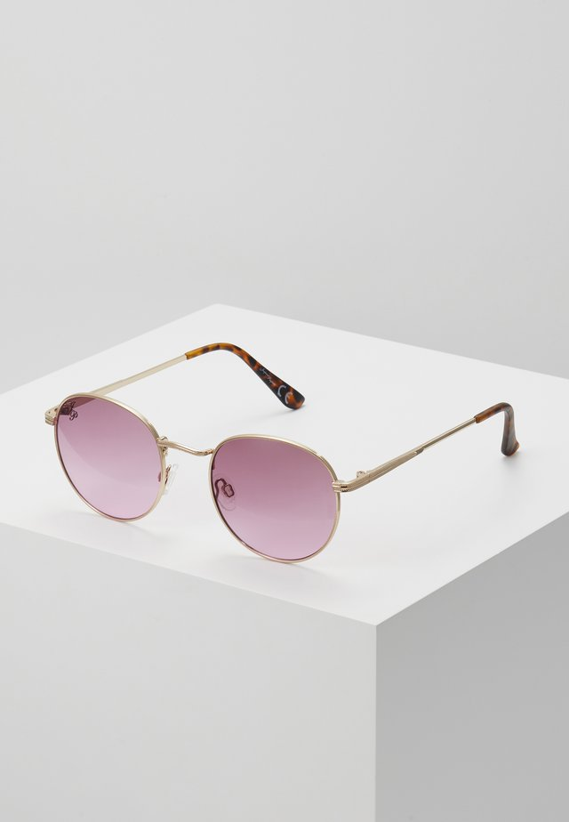 Sunglasses - gold/pink lens