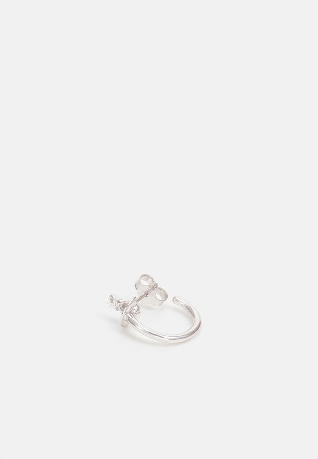 VERA SINGLE HOOP - Ohrringe - silver-coloured