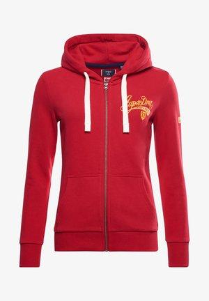 COLLEGIATE - Zip-up hoodie - chilli pepper