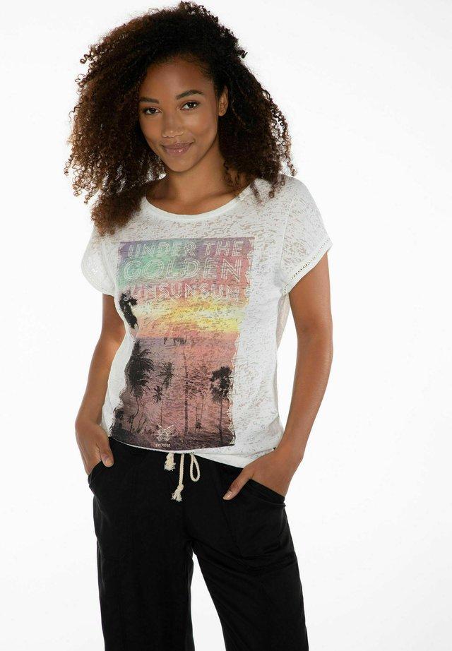 ELLES - T-shirt print - seashell