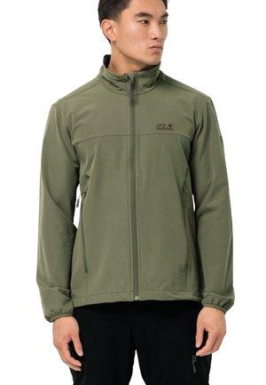 Soft shell jacket - light moss
