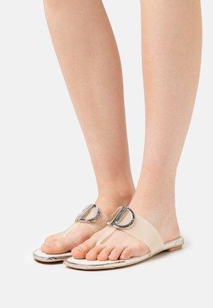 HALCOTT FLAT THONG - T-bar sandals - vanilla