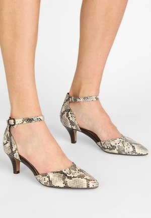 Ankle cuff sandals - taupe/snake-optik