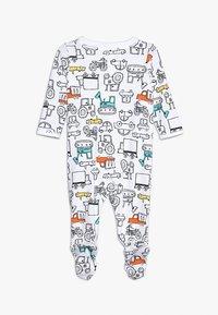 Carter's - BABY INTERLOCK TRUCKS - Pyjamas - white - 1
