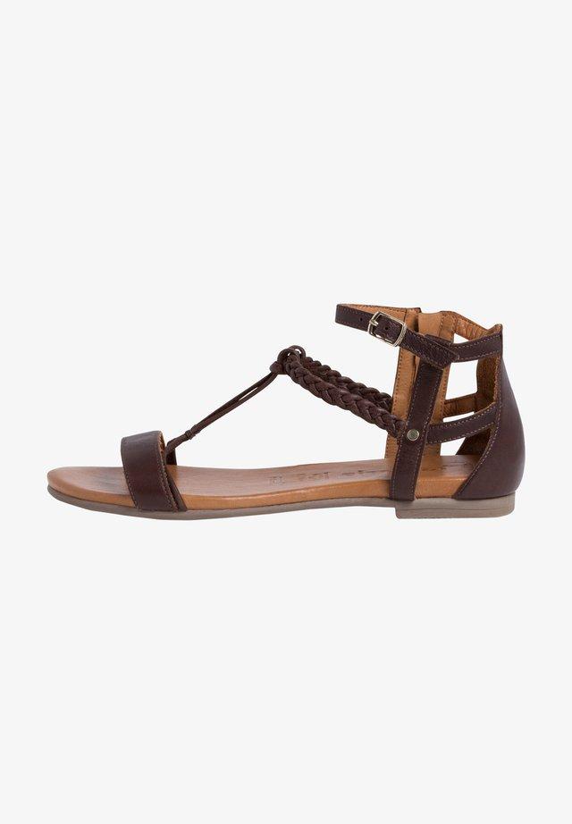 Sandali con cinturino - mocca