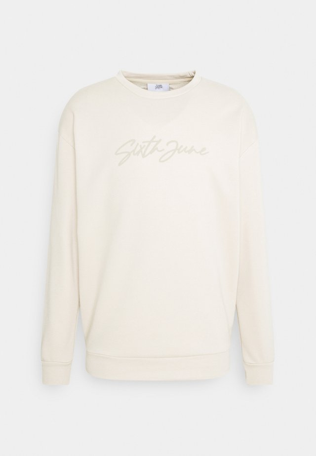 SIGNATURE LOGO - Sweatshirt - beige