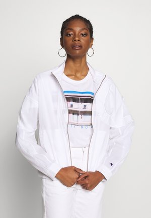 FULL ZIP TOP - Summer jacket - white