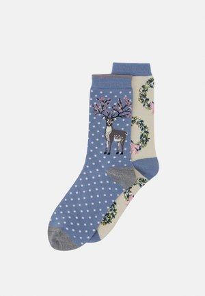NELIE 2 PACK - Socks - powder blue/vanilla