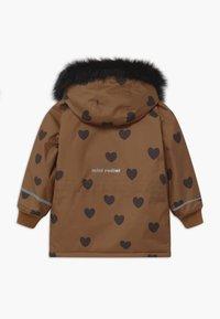 Mini Rodini - HEARTS - Winter coat - brown - 1