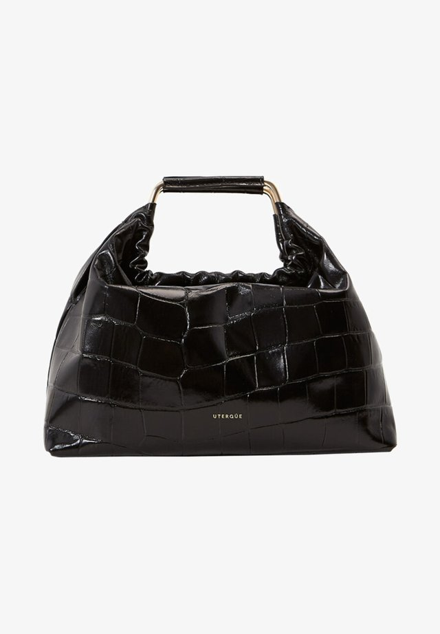 MIT KROKOPRÄGUNG UND GRIFFEN - Handbag - black