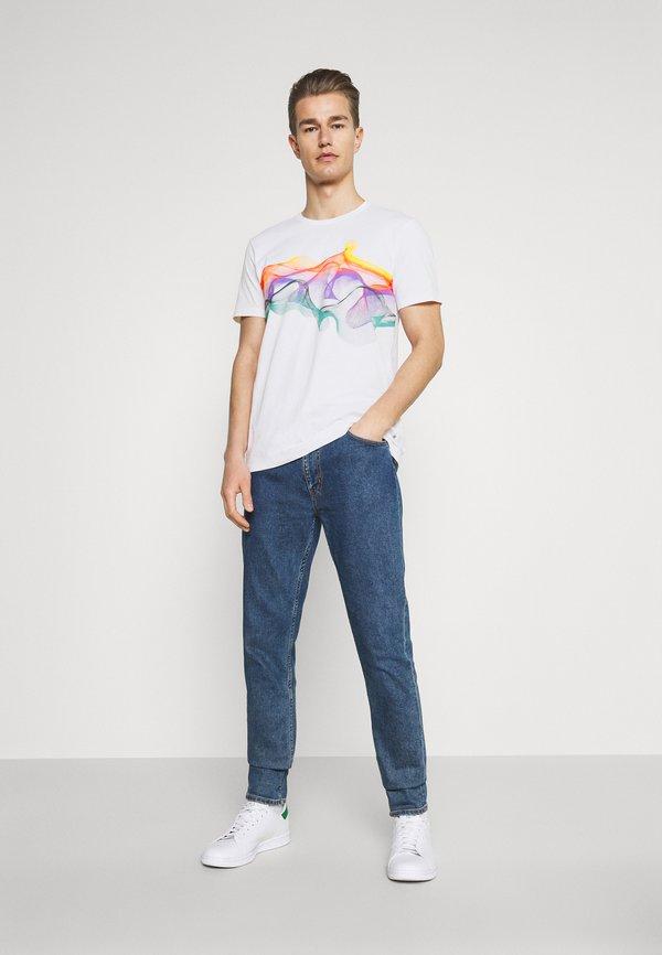 Solid SDPIETER - T-shirt z nadrukiem - white/biały Odzież Męska VZUT