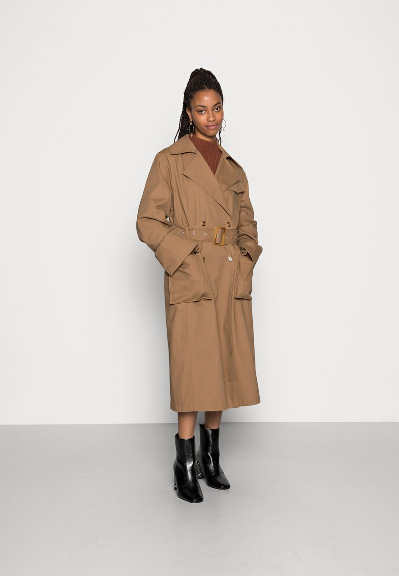 Gina Tricot - MIMMI TRENCH COAT - Trench - brown