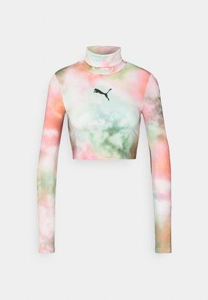 EVIDE HIGH NECK CROPPED LONGSLEEVE - Camiseta de manga larga - white