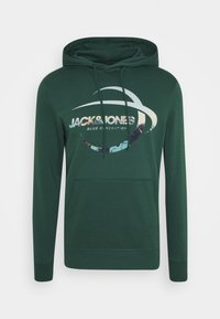 Jack & Jones - JORSCALING HOOD - Hoodie - green - 4