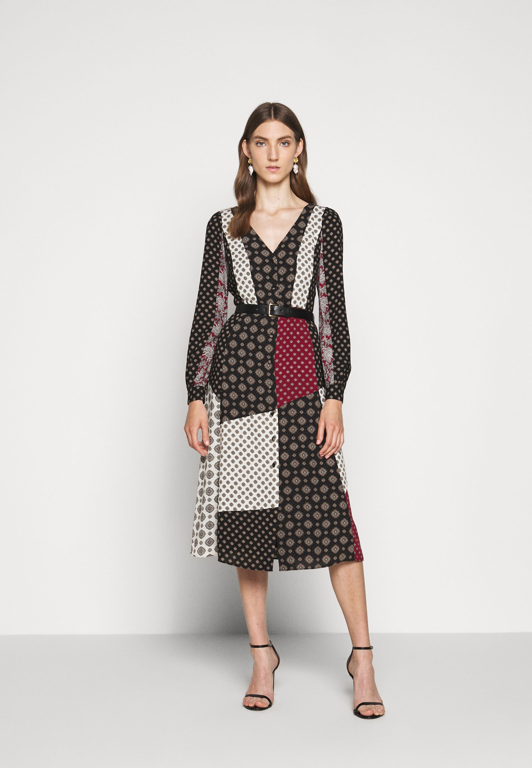 Fast Express Women's Clothing MICHAEL Michael Kors PRINT MIX MIDI Shirt dress black 9xcHnDGjD
