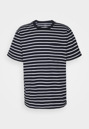 Print T-shirt - navy stripe