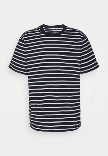 Print T-shirt - navy stripe