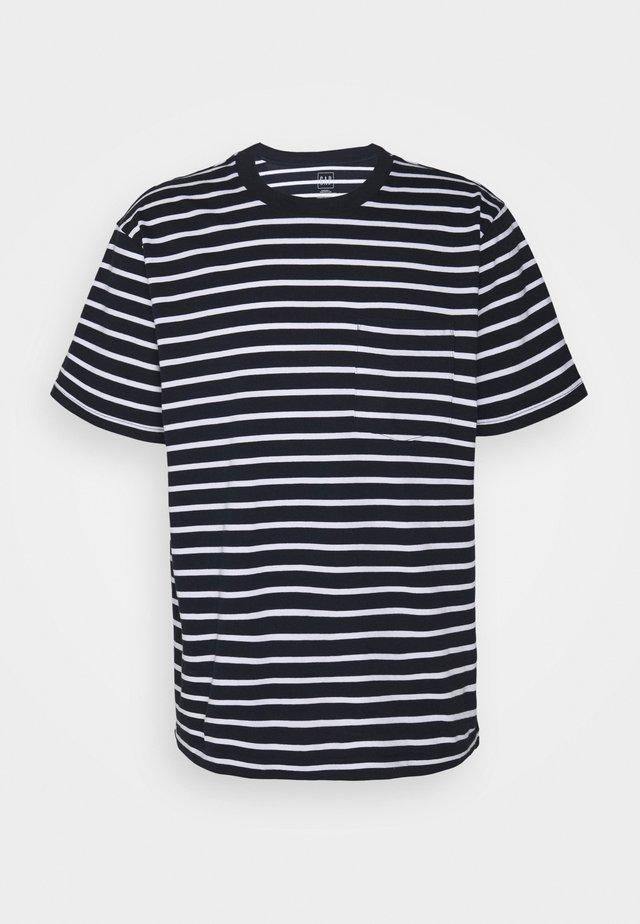 T-shirt con stampa - navy stripe