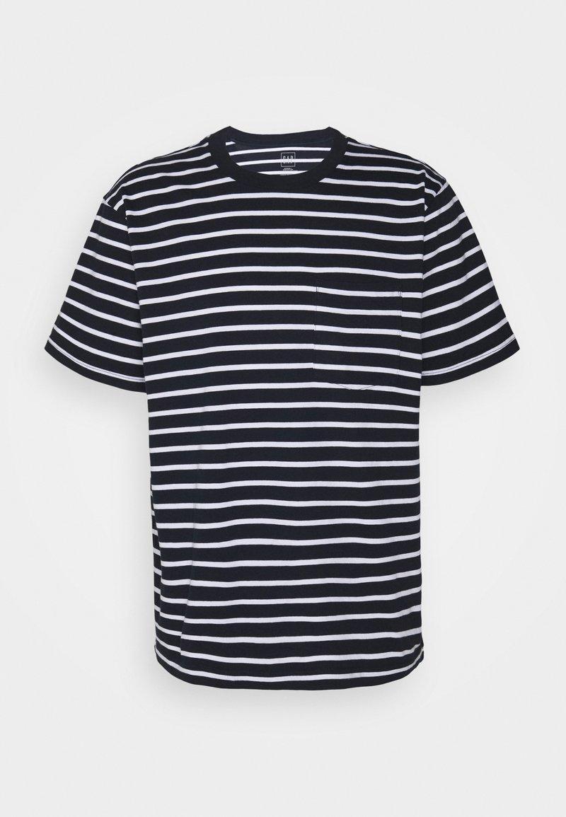 GAP - Print T-shirt - navy stripe
